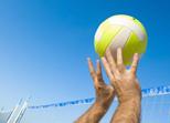 Volleyball im Gartenhallenbad Leipheim bei Günzburg