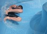 Schwimmerbecken, Nichtschwimmerbecken und Rutschen im Waldbad Günzburg