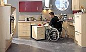 barrierefreie Küche - Arbeiten im sitzen und rollstuhlgerecht