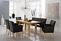 Tischgruppe mit Ledersesseln