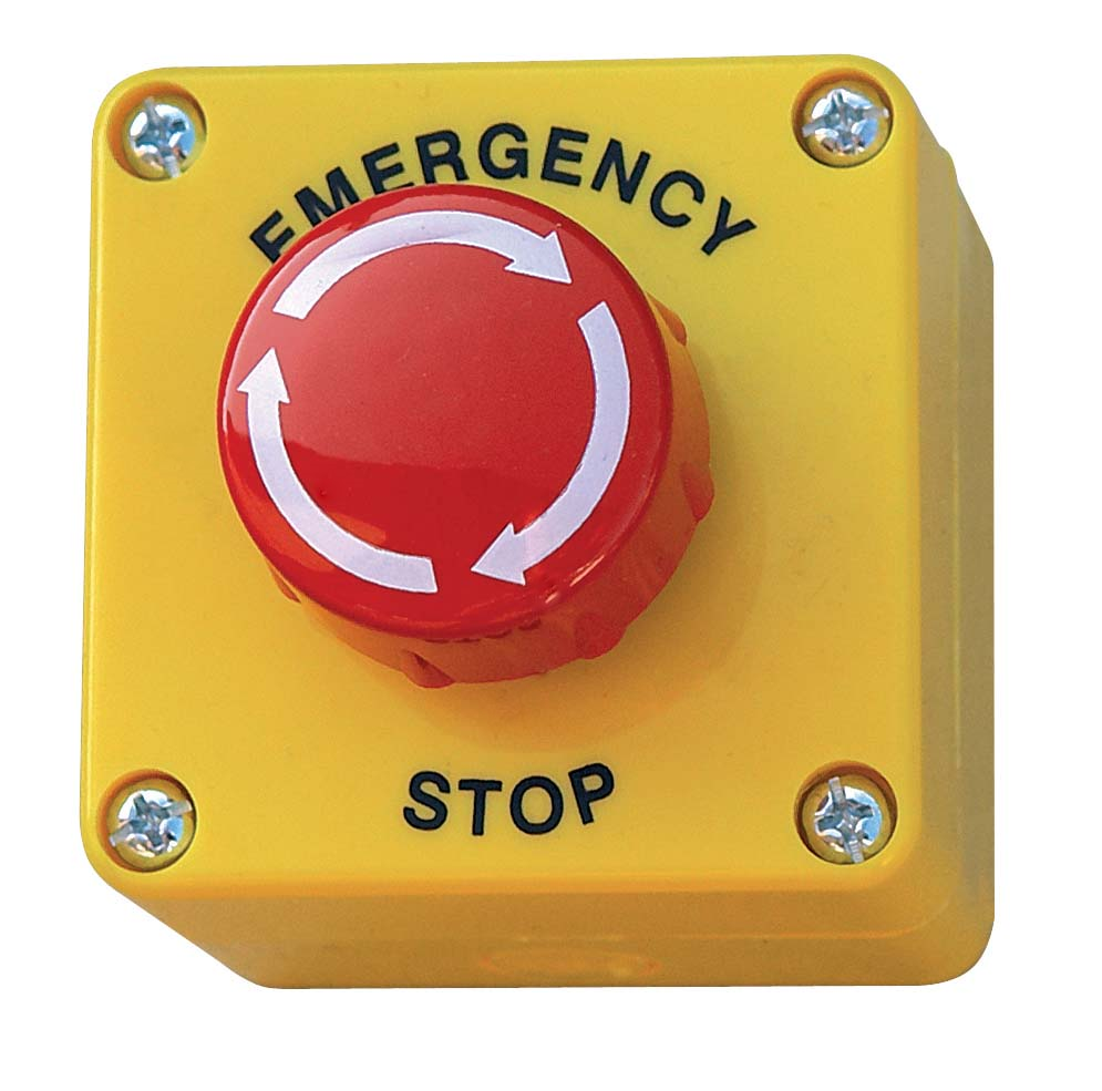 Emergency stop / On-Off buttons