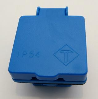 Einbausteckdose blau