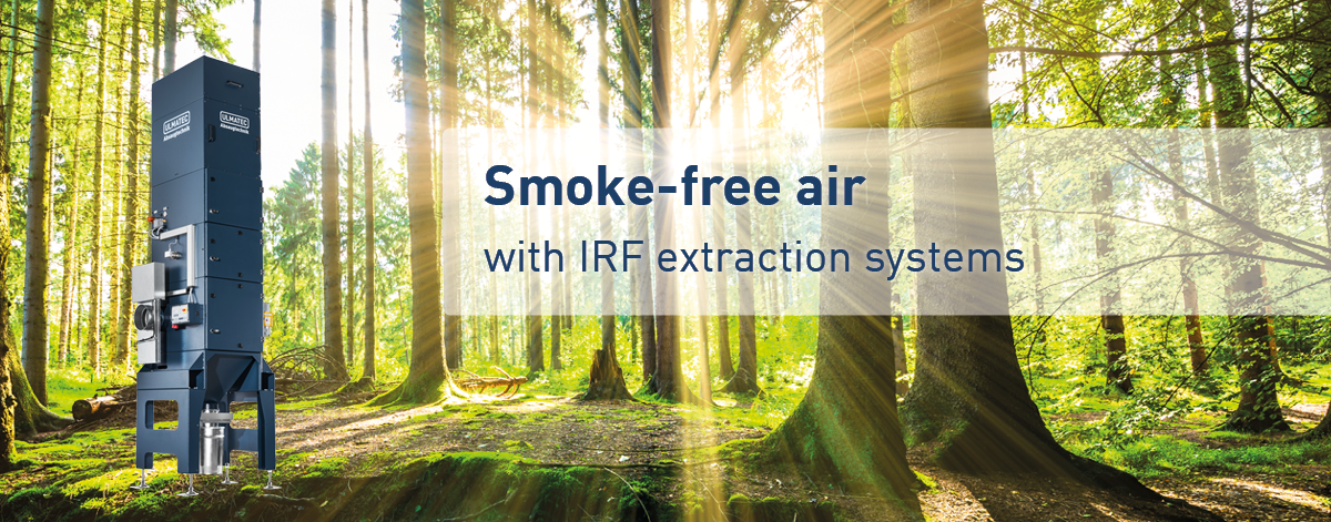 Smoke-free air with IRF extraction systems | ULMATEC GmbH