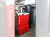 Pelletsanlage mit Solaranlage zur Heizungsunterstützung