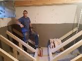 Bau eines Pelletslagers